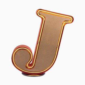 Letter J Graphic Lamp by DelightFULL
