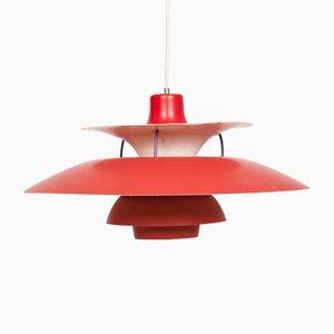 Lámpara colgante modelo PH5 Mid-Century de Poul Henningsen para Louis Poulsen, años 60