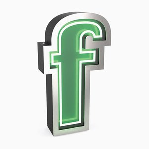 Letter F Graphic Lamp by DelightFULL