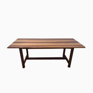 Tavolo da pranzo vintage in legno di noce massiccio