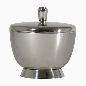 Silver Plated Sugar Pot by Gio Ponti for Argenteria Fratelli Calderoni, 1920s