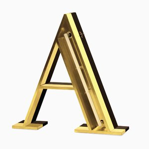 Letter A Graphic Lamp by DelightFULL