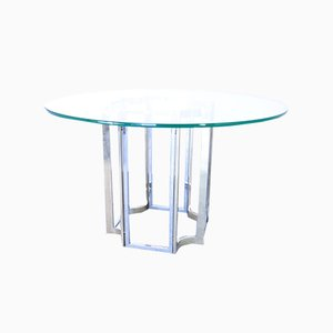 Vintage Chromed Steel Dining Table