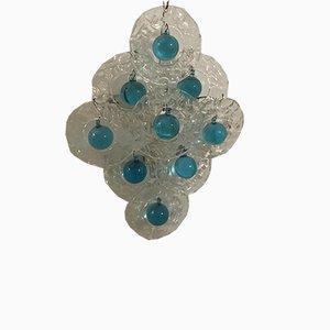 Murano Bubble Glass Sconces by Gino Vistosi for Murano, 1970s, Set of 2