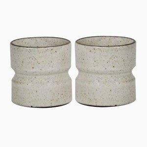 Portacandele vintage in ceramica, anni '70, set di 2