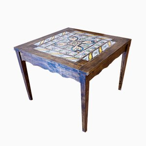 Antique Tiled Dining Table, 1700s