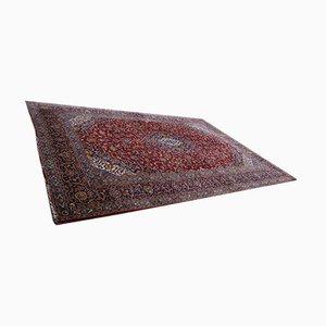 Vintage Hand-Knotted Kashan Wool Carpet, 1950s
