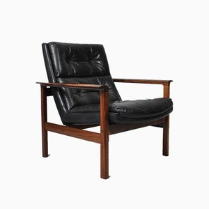Rosewood Armchair by Fredrik A. Kayser for Vatne Møbler, 1960s