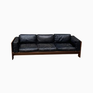 Mid-Century Bastiano Leather Sofa by Tobia & Afra Scarpa for Gavina, 1960s