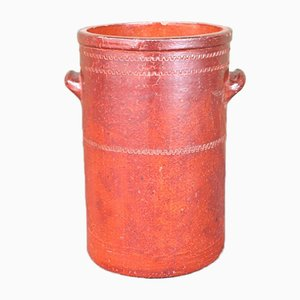 Antique Industrial Style Red Earthenware Pot from Unleserlich, 1900s