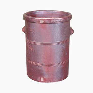 Antique Industrial Red Earthenware Pot, 1900s