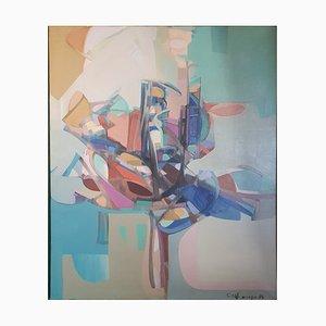 Abstraktes Ölgemälde von Carlo Marangio, 1971