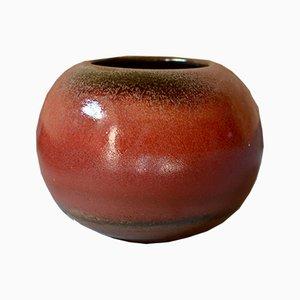 Vintage Speckled Enamel Ceramic Vase by Denis