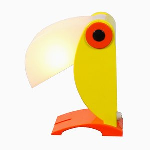 Yellow Toucan Bird Table Lamp from OTF Oldtimer Ferrari Italy, 1960s