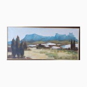Vintage Grenoble Oil Painting by Paul George Klein