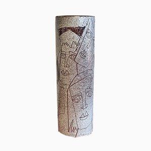 Vaso cilindrico di Charles Sucsan, anni '70