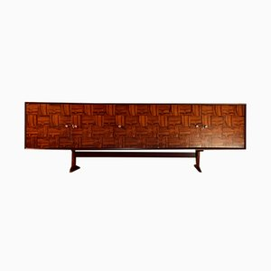 Jacaranda Rosewood Patchwork Credenza from Guiseppe Scapinelli, 1959