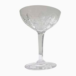 Art Deco French Crystal Champagne Glass Attributed to Baccarat, 1920s