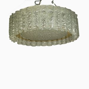Vintage Glass Tube Flush Mount Ceiling Lamp from Doria Leuchten, 1960s