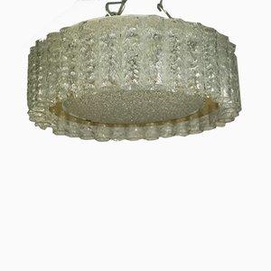 Vintage Glass Tube Flush Mount Ceiling Lamp from Doria Leuchten, 1960s