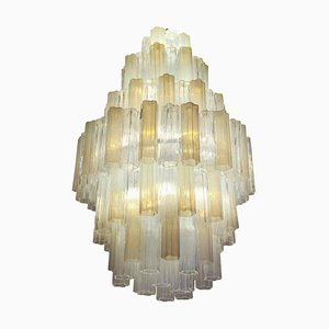 Murano Glass Chandelier by Toni Zuccheri for Venini, 1980s