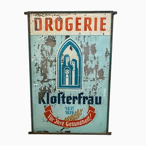 Vintage Glass Drugstore Advertising Sign, 1920s