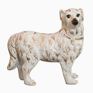 Antique English Ceramic Staffordshire Dog Sculptures, 1900s, Set of 2