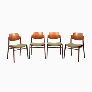 Mid-Century Danish Teak Chairs, 1950s, Set of 4