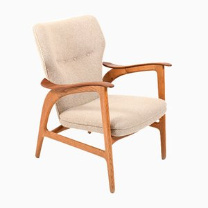 Mid-Century Danish Teak and Oak Easy Chair, 1950s