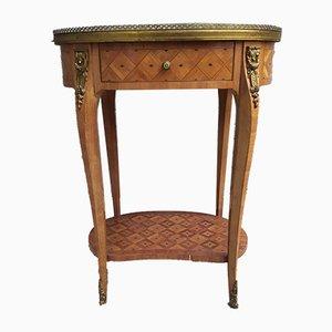 Beistelltisch im Louis XV Stil mit Intarsien