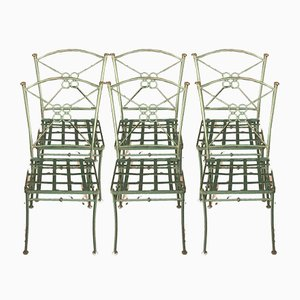 Iron Chairs, 1980s, Set of 6