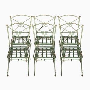Stühle aus Eisen, 1980er, 6er Set