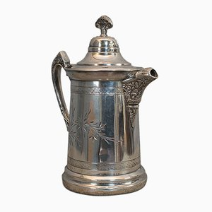 Antique English Silver Plated Coffee Pot from Howard Cutlery Co., 1900s
