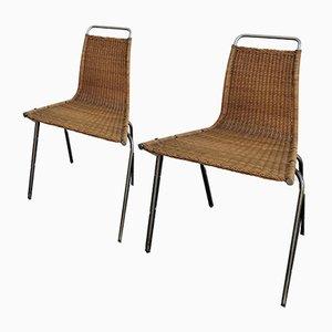 Modell PK1 Esszimmerstühle von Poul Kjærholm für E. Kold Christensen, 1950er, 2er Set