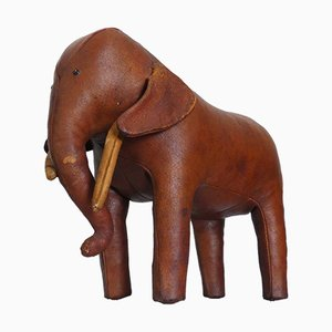 Leather Elephant Stool by Dimitri Omersa, 1960s