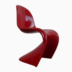 Chaise Miniature Rouge par Verner Panton pour Vitra