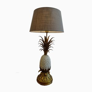 Vintage Pineapple Table Lamps, Set of 2