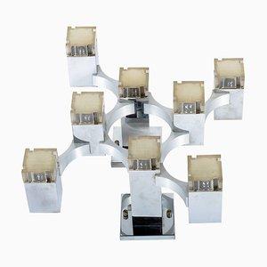 8-Leuchten Wand- oder Deckenleuchte von Cubic Series von Gaetano Sciolari, 1960er