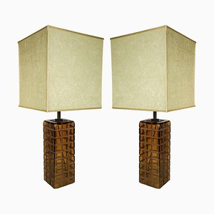 Italian Murano Table Lamps, 1970s, Set of 2