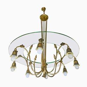 Lámpara de araña de Luigi Brusotti, años 40