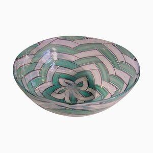 Cuenco A Spina de cristal de Murano de Ercole Barovier, 1958