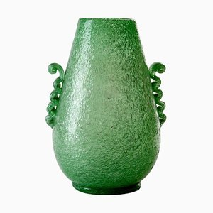 Grünes Murano Pulegoso Glas von Seguso, 1934