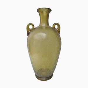 Vase en Verre Murano Gravé par Archimede Seguso, 1950s