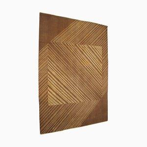 Tappeto geometrico dal design astratto, anni '70