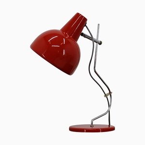 Red Table Lamp by Josef Hurka for Lidokov, Czechoslovakia, 1970s