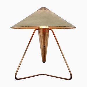 Lampada da tavolo grande in ottone di Helena Frantova, anni '50