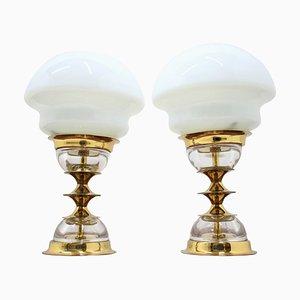 Tischlampen von Jablonecké Sklárny, 1970er, 2er Set