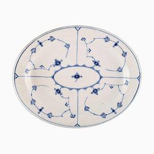 Piatto da portata in porcellana blu dipinta a mano di Royal Copenhagen