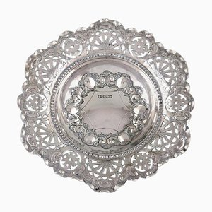 Silver Pierced Ornamental Bowl from Charles Boyton & Son, 1910s