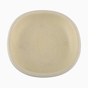 Marselis Faience Bowl with Geometric Pattern by Nils Thorsson for Aluminia